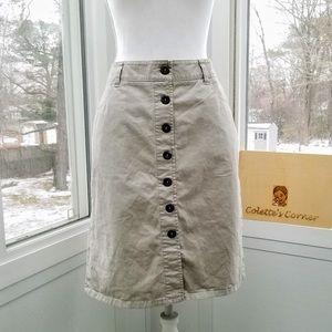 NY&Co. Khaki Button Down Skirt